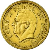 Monnaie, Monaco, 2 Francs, Undated (1943), Poissy, TTB+, Cupro-Aluminium - 1922-1949 Louis II