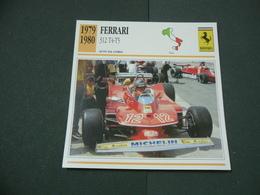 CARTOLINA CARD SCHEDA TECNICA  AUTO  FERRATI 312 T4-T5 - Autres Collections