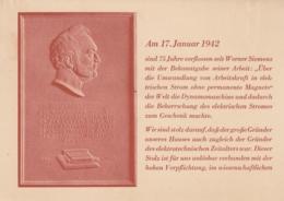 AK - Gedenkkarte Zum 75 Jährigen Bestehen Des Hauses SIEMENS & HALSKE 1942 - Ohne Zuordnung