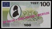 """Test Note """"DE LA RUE"""" Testnote, 100 EURO, Beids. Druck, Sample, RRR, UNC - EURO"""