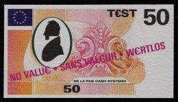"""Test Note """"DE LA RUE"""" Testnote, 50 EURO, Beids. Druck, Sample, RRR, UNC - EURO"""