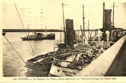 """N°68143 -cpa Le Havre -le Bateau Pilote Et Remorqueurs """"Minautaure"""" Et - Remorqueurs"""