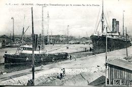 N°68147 -cpa Le Havre -remorqueur Abeille Départ D'un Transatlantique- - Remorqueurs