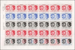 0207 Monaco Essai (proof) Non Dentelé (imperforate) ** MNH N°576 Roi Louis 12 Et Grimaldi .feuilles (sheets) - Neufs