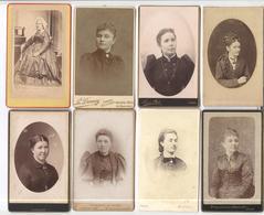 Lot De 24 Photos Carte De Visite - Portraits De Femmes - Circa 1900 - Personnes Anonymes