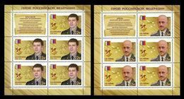 Russia 2018 Mih. 2535/36 Heroes Of Russia Alexander Krasikov And Anatoly Lebed. Aviation. Plane (2 M/S) MNH ** - Nuevos