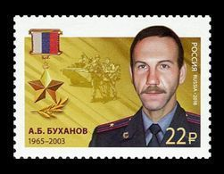 Russia 2018 Mih. 2550 Heroes Of Russia. Major Alexey Bukhanov MNH ** - 1992-.... Federation