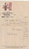 Vieux Papiers - Petite Facture Illustrée Couleur  Cheville Métallique BOL - - France