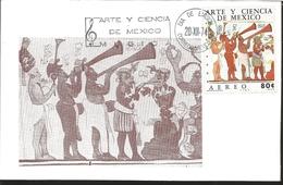 J) 1974 MEXICO, ART AND SCIENCE OF MEXICO, BONAMPANK, GUTEMBERG POSTCARD - Mexique