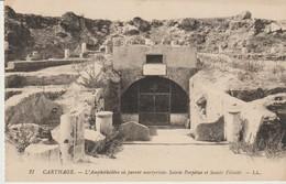 C. P. A. - CARTHAGE - L'AMPHITHÉÂTRE OU FURENT MARTYRISÉES SAINTE PERPÉTUE ET SAINTE FÉLICITE - L. L.- 27 - Túnez