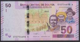 Bolivia 50 Bolivanos 2018 Pnew UNC - Bolivia