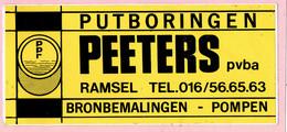 Sticker - Putboringen - PEETERS RAMSEL - Bronbemalingen - Pompen - Autocollants