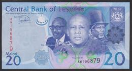 Lesotho 20 Maloti 2013 P22b UNC - Lesotho