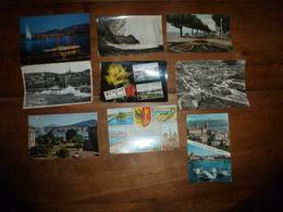 Lot De 9 Cartes Postales De La SUISSE (Genève , Lausanne , Neuchâtel , Interlaken , Bismensdorf ,Etc ) - Suisse