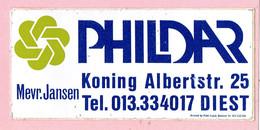 Sticker - PHILDAR - Koning Albertstraat Diest - Mevr.Jansen - Pegatinas