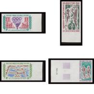 1607f Afars Et Issas Poste Aérienne (pa) N°72 /75 Jeux Olympiques Munich 1972 Non Dentelé Imperforate ** MNH Cote 150 - Afars Et Issas (1967-1977)