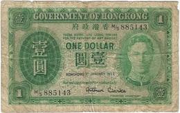 Hong Kong 1 Dolar 1-1-1952 Pick 324b Ref 1 - Hong Kong