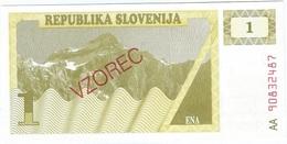 Eslovenia - Slovenia 1 Tolar 1990 SPECIMEN Pk 1s.1 Ref 1864-1 UNC - Eslovenia