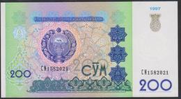 Uzbekistan 200 Som 1997 P80 UNC - Uzbekistán