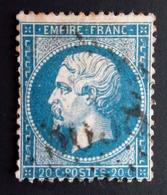1862 France Yt 22 . Empereur Napoléon III . Oblitéré Gros Chiffres - 1862 Napoléon III