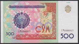 Uzbekistan 500 Som 1999 P81 UNC - Uzbekistán