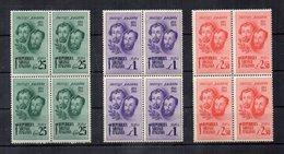 Italia - 1944 - Repubblica Sociale - Centenario Morte Dei Fratelli Bandiera - 3 Valori In Quartina - Nuovi - (FDC13444) - 1944-45 République Sociale