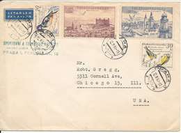 Czechoslovakia Cover Sent Air Mail To USA Praha 12-11-1960 With More Topic Stamps Incl. BIRDS - Tchécoslovaquie