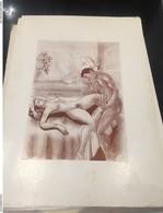 Ancien Dessin Imprimer Scene Adulte Erotique - Autres Collections