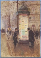 Jean BERAUD - La Colonne Morris - Peintures & Tableaux