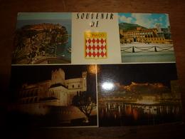 """Carte Postale :  MONACO - Timbre """" NOËL"""" Daté ? - Journée Mondiale De Télécommunication - Monaco"""