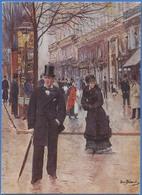 Jean BERAUD - Sur Le Boulevard, Vers 1885 - Peintures & Tableaux