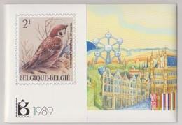 Jaarset 1989 (inhoud Zie Scans) Uitgifteprijs:700Bef = 17,33 Euro- Inclusief Zwart-wit Velletje Europa Zegels N°2323/24 - Jahressätze
