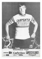 CARTE CYCLISME ROGER VANDEMAELE TEAM CARPENTER 1974 - Cyclisme