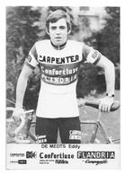 CARTE CYCLISME EDDY DE MEDTS TEAM CARPENTER 1974 - Cyclisme