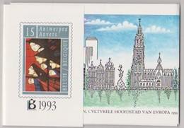 Jaarset 1993 (inhoud Zie Scans) Uitgifteprijs:1000Bef = 24,79 Euro- Inclusief Zwart-wit Velletje Europa Zegels N°2501/02 - Jahressätze