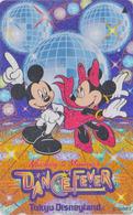 Télécarte Métal ARGENT Japon / 110-197020 - DISNEY Disneyland - Danse MICKEY MINNIE / DANCE FEVER Japan SILVER Phonecard - Disney