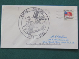 USA 1995 Cover From Ship USS Cushing In Mission In Desert Storm To Texas - Flag - Dog - United States