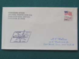 USA 1991 Cover From Submarine USS Daniel Webster In Mission In Desert Storm To Texas - Flag - United States