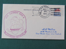 USA 1994 Cover From Ship USS Detroit In Mission In Desert Storm To Texas - Flag - United States