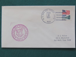 USA 1991 Cover From Ship USS Denver In Mission In Desert Storm To Texas - Flag - Eagle - United States