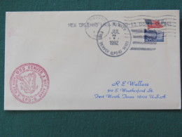 USA 1992 Cover From Ship USS Denver In Mission In Desert Storm To Texas - Flag - Eagle - United States