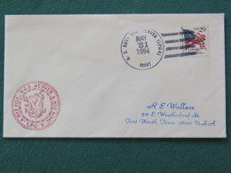 USA 1994 Cover From Ship USS Denver In Mission In Desert Storm To Texas - Flag - Eagle - United States