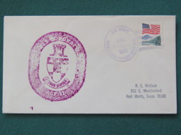 USA 1991 Cover From Ship USS Coronado In Mission In Desert Storm To Texas - Flag - United States