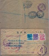 1932 , BRASIL , FAJA PARA IMPRESOS CERTIFICADA CIRCULADA A  NASSAU , REDIRIGIDA A ESTADOS UNIDOS , DIVERSAS MARCAS - Brasil