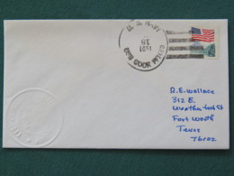 USA 1991 Cover From Ship USS Cook In Mission In Desert Storm To Texas - Flag - United States