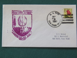 USA 1991 Cover From Ship USS CooK In Mission In Desert Storm To Texas - Flower - United States