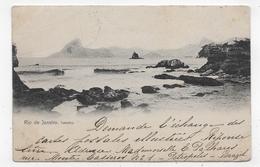 (RECTO / VERSO) RIO DE JANEIRO EN 1903 - ICARAHY - BEAU CACHET CAPITAL FEDERAL 1 - NOM GRATTE - CPA VOYAGEE - Rio De Janeiro