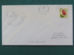 USA 1991 Cover From Ship USS Constant In Mission In Desert Storm To Texas - Flower - Seat Belt Slogan - United States