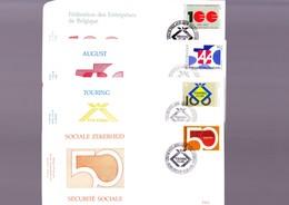 BELGIQUE F.D.C. N° 2585 - 88 OBL.1J 11-2-95 TOURING CLUB COTE 12,00 - FDC