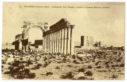 S7156 - Palmyre (Tadmor) - Colonnades D'un Temple à Droite, La Caserne Militaire Romaine (N°33) - Syrie